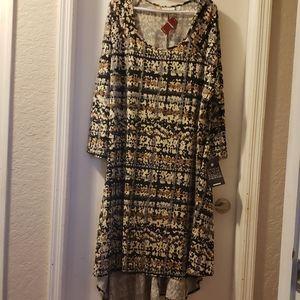 NWT Avenue Hi-low Midi Hem Dress